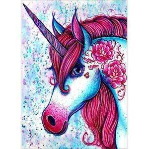 Diamond-Painting-DIY-Serial-Red-Haired-Unicorn-Home-Decor-Cross-Stitch