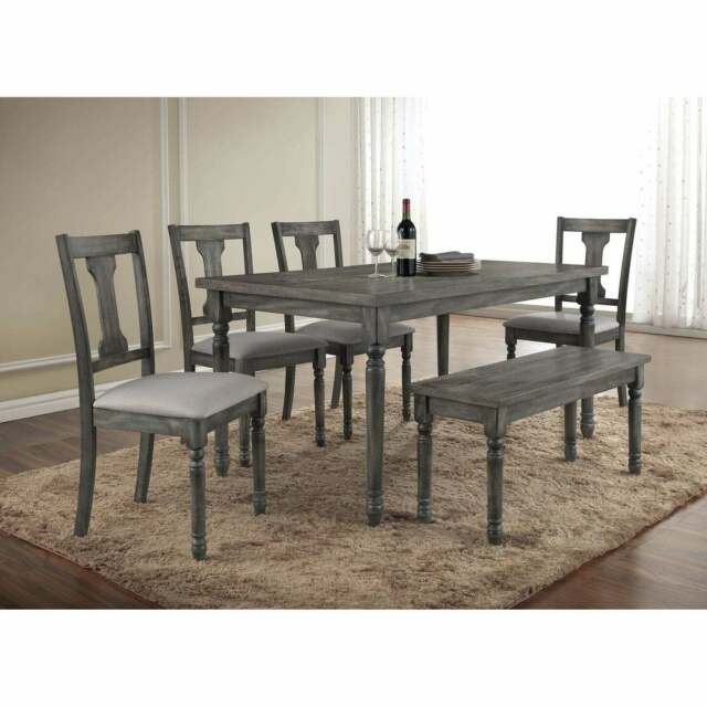 Modern Design Dining Table Chair Bench High Back Bench 5p Dining Set Furniture For Sale Online Ebay