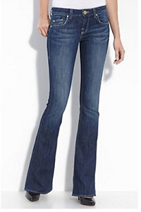 NWT-William-Rast-Women-039-s-Ryley-Stretch-Flair-Jeans-in-Dresden-Size-26-MSRP-185