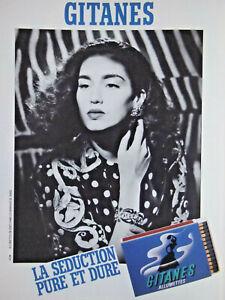 PUBLICITE-1987-CIGARETTES-GITANES-ALLUMETTES-LA-SEDUCTION-PURE-ET-DURE-TABAC