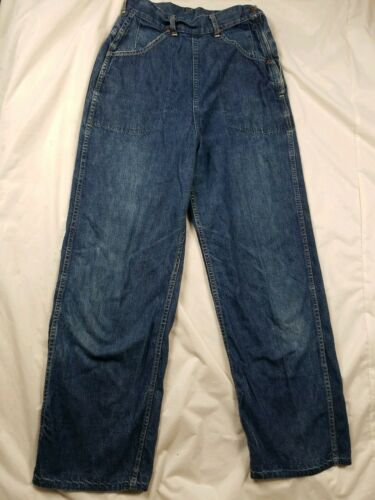 Vintage 1940s Lee High Waisted Side Zip Jeans Usa… - image 1