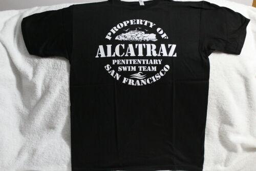 PROPERTY OF ALCATRAZ PENITENTIARY SWIM TEAM SAN FRANCISCO T-SHIRT SHIRT