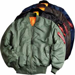 purchase cheap cef1b 2375e Details about Alpha Industries MA-1 Flight Bomber Jacket Reversible Zipped  Military 5 Colours