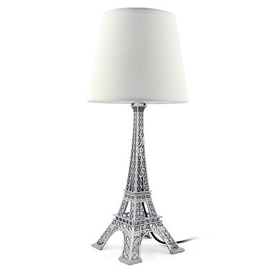Decorative White Desk Table Bedside Lamp Shade French Eiffel Tower H 42.5cm,17''