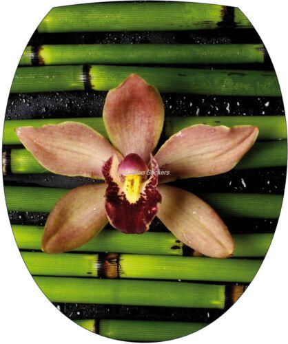 Sticker abattant de WC Fleur Bambou 35x42cm Réf 276