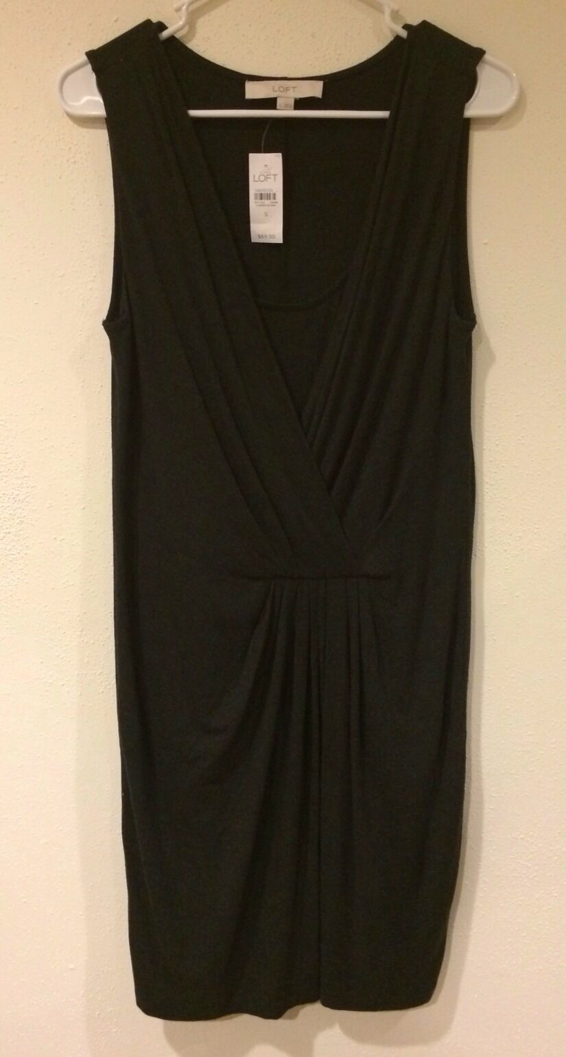 NWT Ann Taylor loft  dark grey dress size M