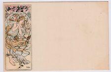 MUCHA SEASONS Champenois 4 Vintage Postcards