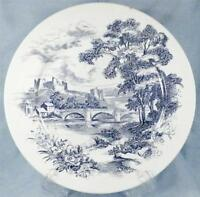 Wedgwood Countryside Dinner Plate Blue Transferware Porcelain Vintage AS IS COND