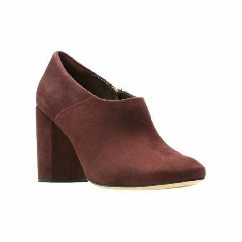 Clarks Amabel Clara Burgundy Suede Women's shoes Size UK 4D