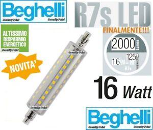 Beghelli lampadina led r7s 16w 2000 lm 2700k 117 118mm for Lampada alogena lineare led