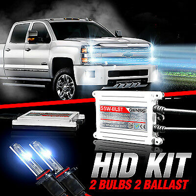 GENSSI 55W X-Treme HID Kit For Fog Lamps Lights For Chevy GMC Vehicles