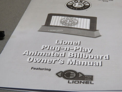LIONEL HALLOWEEN ANIMATED BILLBOARD PLUG-Expand-PLAY train accessory 6-82064 NEW