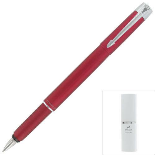 Parker Esprit Telescoping Red Fo ntain Pen Fine Pt New In Box S0774570