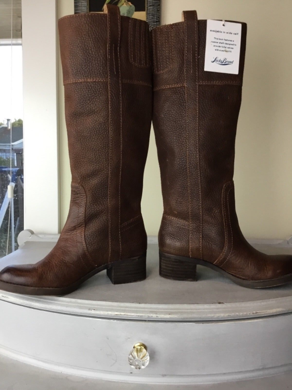 Lucky Brand Heloisse braun Leather Distressed Pebbled Riding Riding Riding Stiefel Sz 5 c2a380