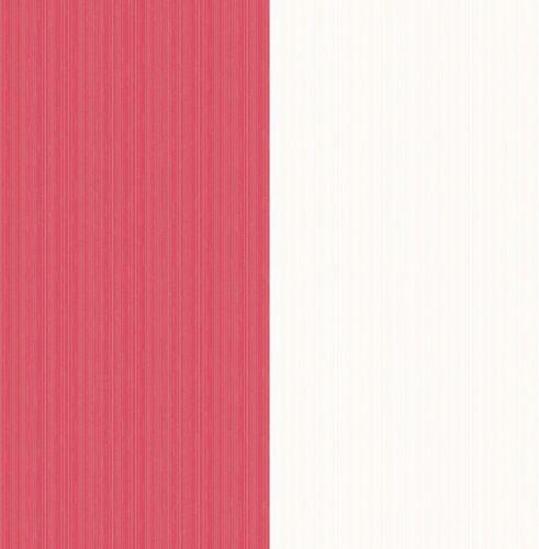 RED WHITE WIDE STRIPE HORIZONTAL FEATURE WALLPAPER FINE DECOR VALUE FD41003