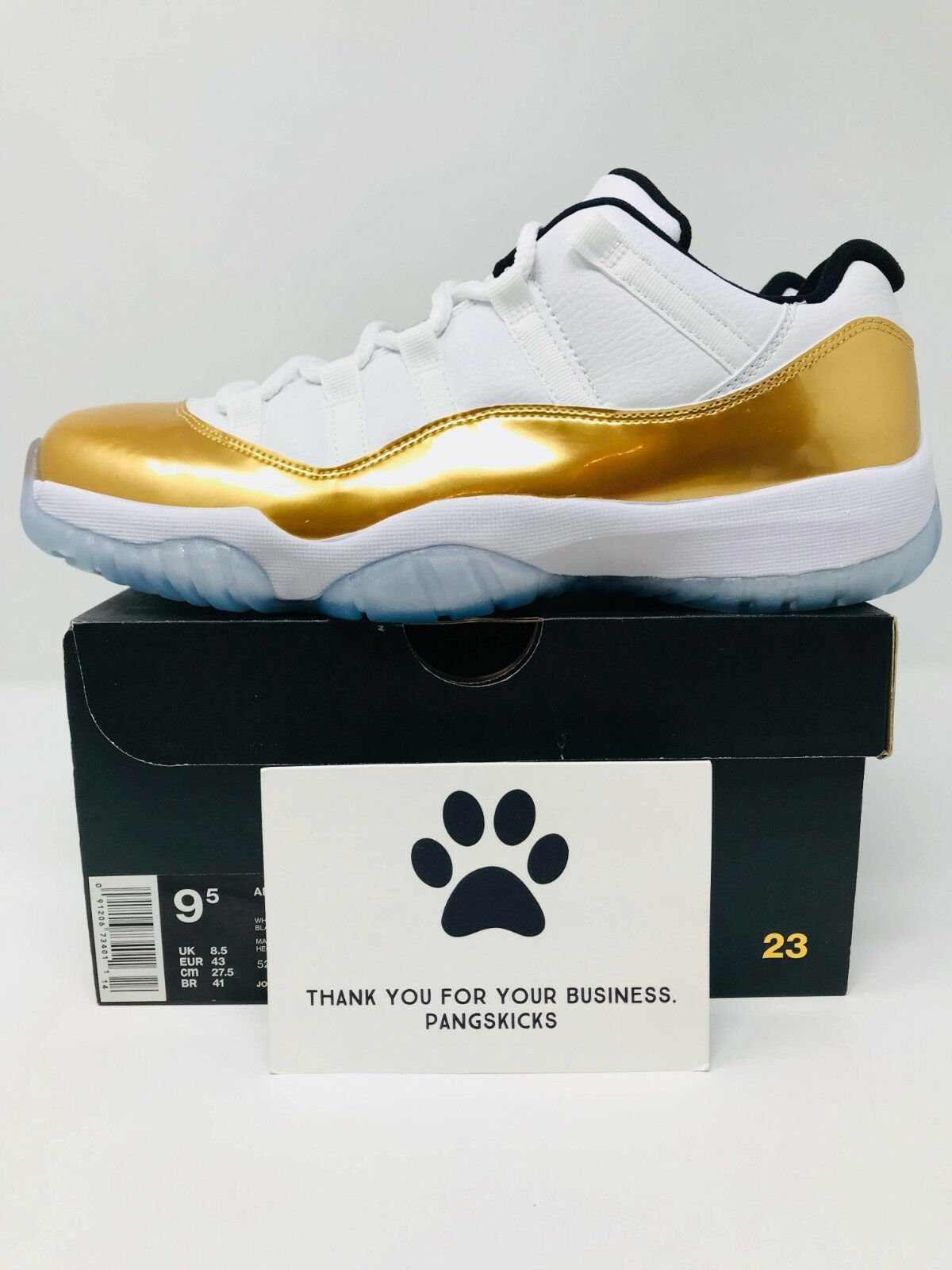 Nike Air Jordan 11 Retro Low Closing Ceremony White gold 528895-103 Size 9.5