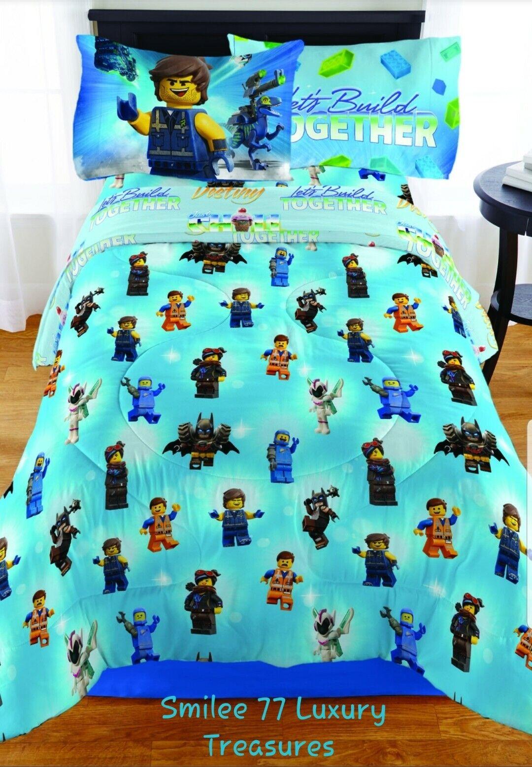 Le film Lego 2  Twin 5Pc Ensemble de lit avec bonus Fourre-Tout & PERSONNAGE Oreiller