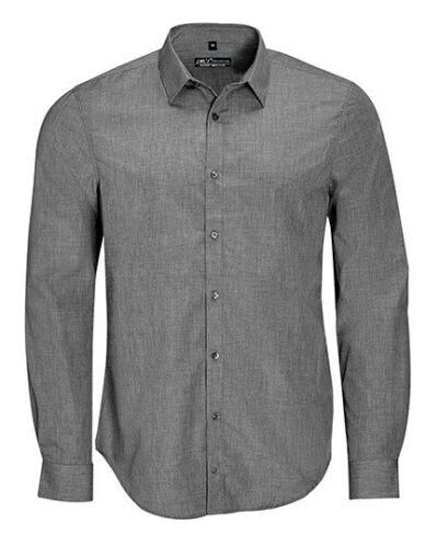 Herren Jeans Langarm Hemd Jeanshemd Gr.S,M,L,XL,XXL,3XL blau grau L01428