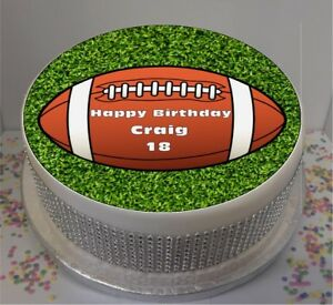 Image Is Loading Novelty Personalised Rugby Ball 7 5 034 Edible