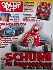 Autosprint n°44 2001 Schumacher campione anche sui Kart  [P19]