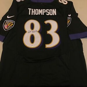 Image is loading Deonte-Thompson-Signed-Authentic-Nike-On-Field-Baltimore- b048503bc