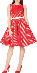 1ac71f1e143 Audrey Vintage Polka Dot 50 s Rockabilly Swing Prom Dress Size 8 ...