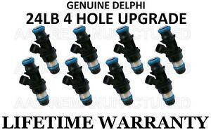Reman 4hole MPG upgrade 8x OEM Delphi fuel injectors for Chevy Express 1500 5.3L