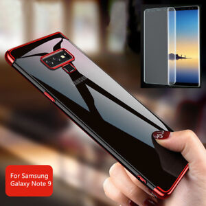 more photos cc28e ffcb0 Details about For Samsung Galaxy Note 9 360° Full Shockproof TPU Case Cover  + Tempered Glass