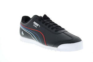 Puma-BMW-MMS-Roma-30652601-Mens-Black-Leather-Motorsport-Sneakers-Shoes-10-5