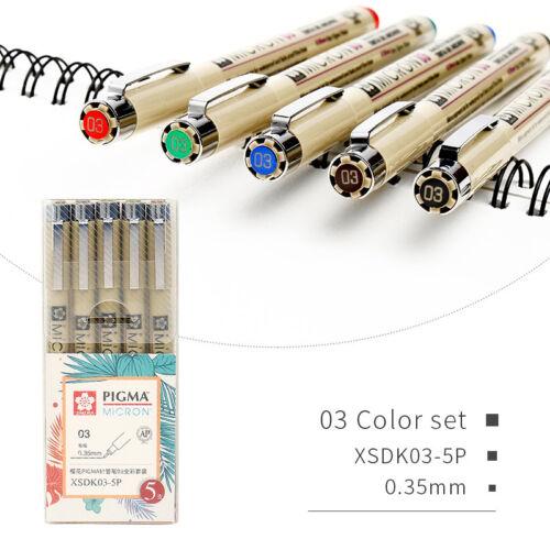 SAKURA Multi-Color Needle Drawing Brush Pen Artist Drawing Design Sketch