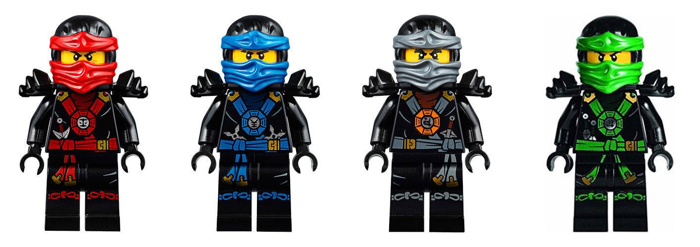 Genuine LEGO Ninjago Deepstone Suit Minifigures - Brand NEW NEW NEW - 4 Minifigures 001274