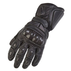 SPADA-NINETY4-CARBO-LEATHER-MOTORCYCLE-MOTORBIKE-GLOVES-BLACK-SALE-OFFER