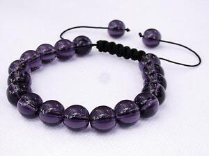 f3a3700e8935b Details about Natural Amethyst Gemstone Men's beaded bracelet February  Birthstone 10mm beads