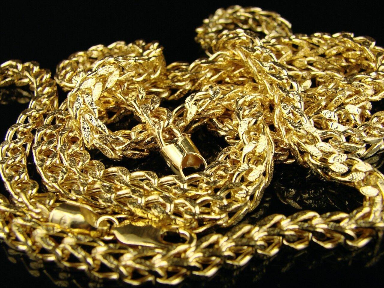 10K 4.5 4.5 4.5 mm oro Giallo 76.2cm Franco Scatola Catenina di Diamanti e1260f