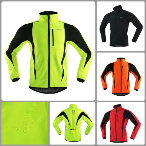 Thermal Winter Cycling Jacket Warm Up Bicycle Clothing Windproof Reflective Coat