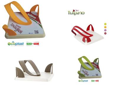 Ecoplast Tulipano Portatovaglioli Combinato Avorio//Verde Acido 22,3x12,5x20 cm