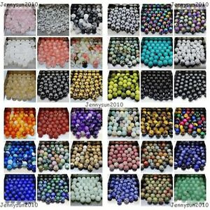 Wholesale-Natural-Gemstone-Round-Spacer-Loose-Beads-4mm-6mm-8mm-10mm-12mm-Pick