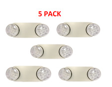 5 X Led Emergency Exit Light Twin Head Wall And Ceiling Emergency Sign Lamp
