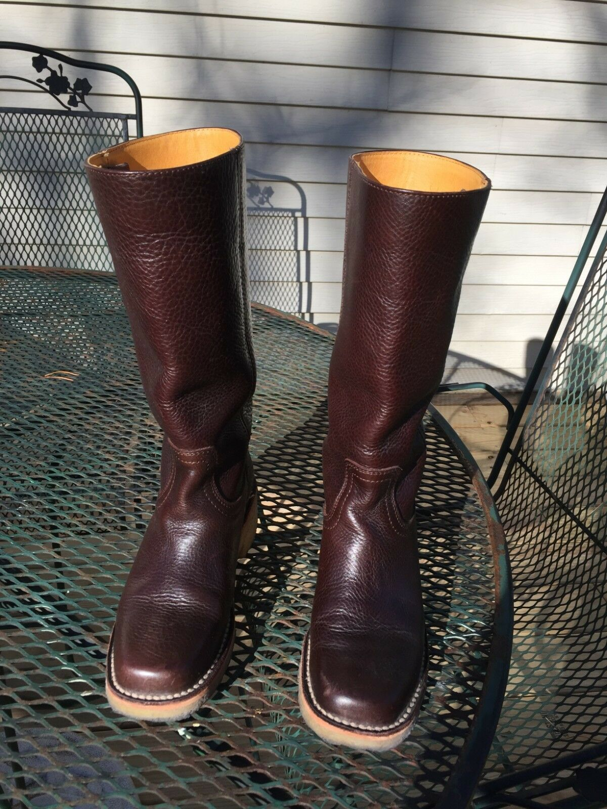 Frye Campus Tall Leather Boots w leather lining, size 5-1 2 B