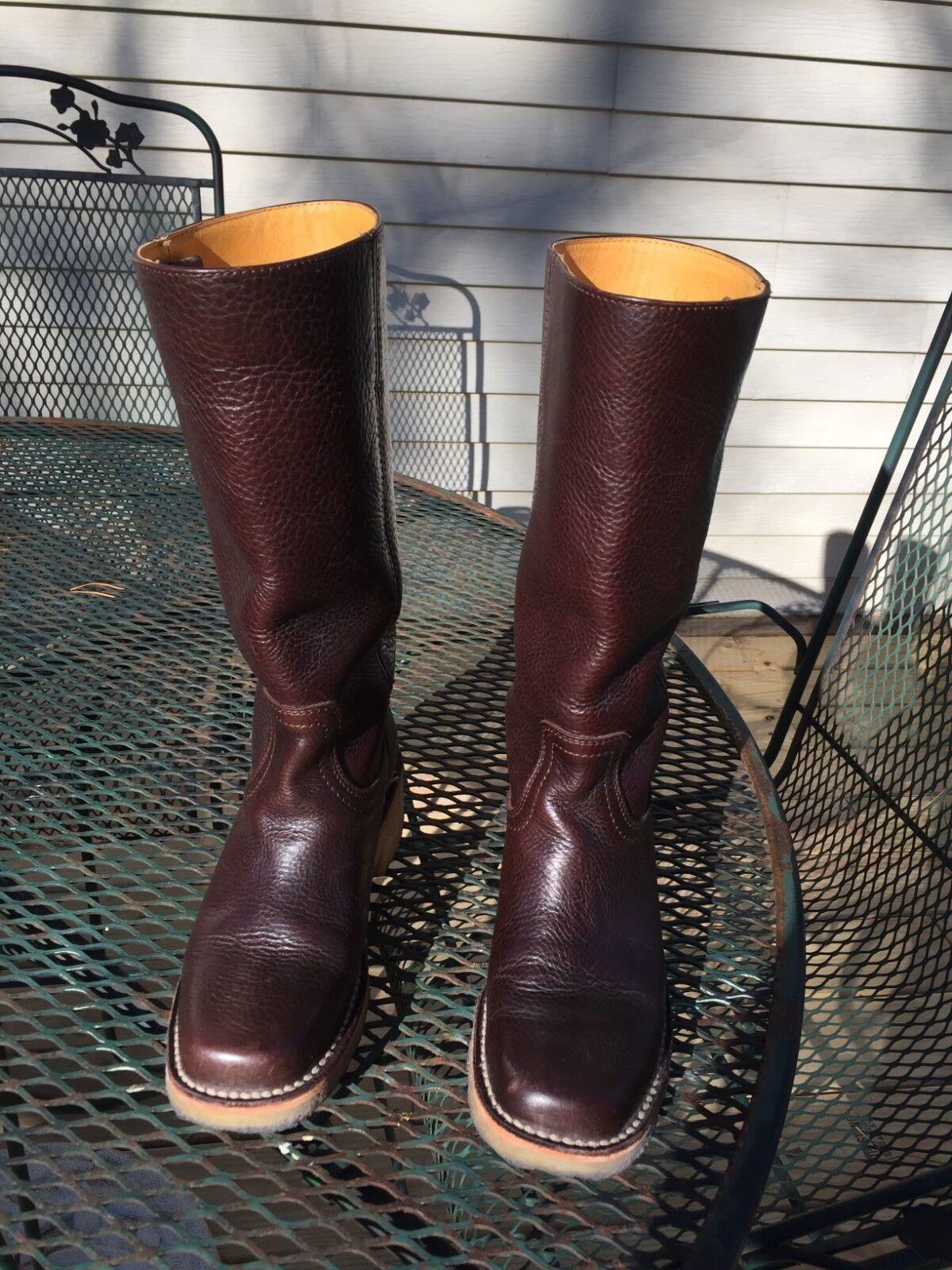 Frye Tall läder Stövlar med läderklädsel, storlek 5 -1  2 B