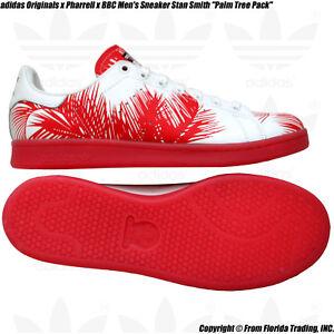 85e12e4f28411 adidas Originals x Pharrell x BBC Men s Sneaker Stan Smith(10)Red ...