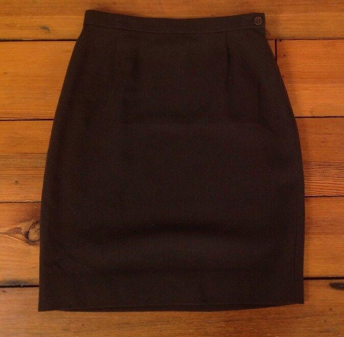 Vintage Giorgio Armani Dark Brown 100% Wool Womens Pencil Skirt  25  Waist