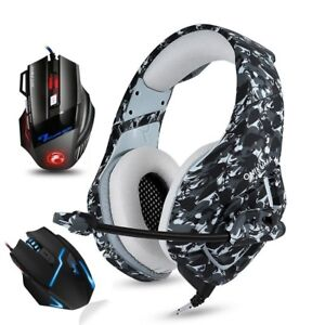 Gaming Headphones With Microphone Pro Wired Usb Gaming Mouse Ps4