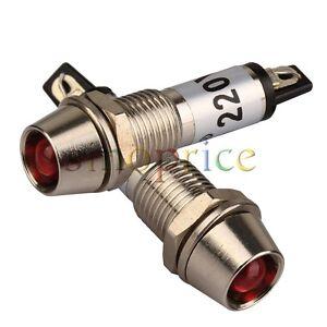 5 x Red LED 8mm Panel Indicator 220V