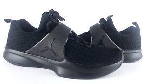 6d81dcdff494 Image is loading Jordan-Trainer-2-Flyknit-Triple-Black-921210-013-