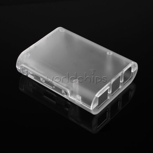 Cooling Fan// White//Black ABS Cover Box Case For Raspberry Pi 3 Transparent 2