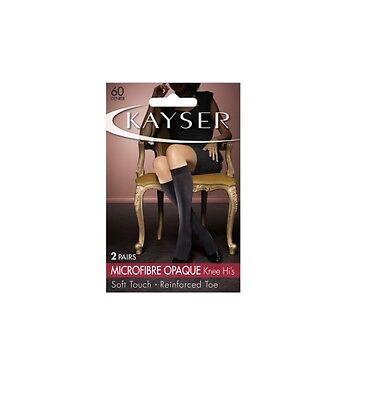 WOMENS 10 PACK KAYSER PLUS SILKY ELASTANE KNEE HI/'S Stockings Hosiery Shapewear