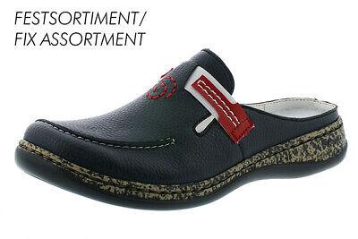 Rieker 46393 15 Damen Schuhe Pantoletten Clogs blau , Schuhgröße:41 EU, Farbe:Blau