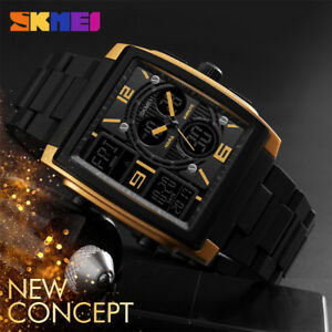 STUDENTS-MALE-QUARTZ-WRISTWATCHES-WATERPROOF-DIGITAL-LED-DISPLAY-SQUARE-CASE-DD