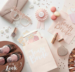 Image Is Loading Team Bride Hen Party Rose Gold Vintage